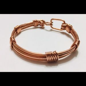 Copper Bracelet Raw Earthy Edgy Steam Hard Chic
